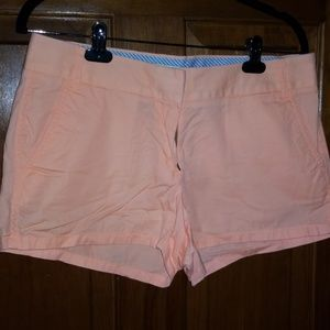 J Crew 100% cotton shorts in melon color
